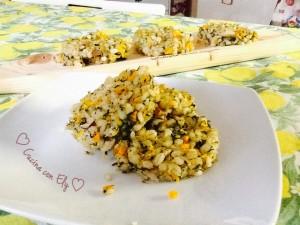 Crocchette di orzo con spinaci e carote